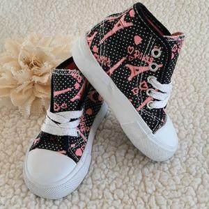 Girl's Baby Toddler 6 High Top Sneakers
